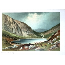 Dhu Loch Loch-Na-Gar Vintage Antique Print From Scotland In 1889
