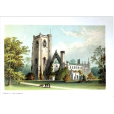 Dunkeld Cathedral Vintage Antique Print From Scotland In 1889
