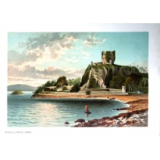 Dunolly Castle Oban Vintage Antique Print From Scotland In 1889