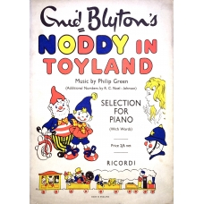 Noddy In Toyland by Enid Blyton Music by Philip Green Vintage Rare Sheet Music