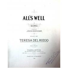 All's Well by Teresa Del Riego