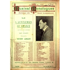 A Gentleman Of France by Henry Ainlee Musical Monologues No 65