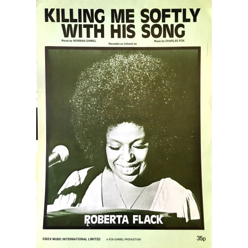 Killing Me Softly With his Song by Roberta Flack Vintage Sheet Music 1972