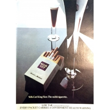 Benson and Hedges Silk Cut Cigarettes 1975 Vintage Magazine Advert