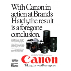 Canon Camera Photography 1982 Vintage Magazine Advert