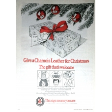 Chamois Leather For Christmas 1977 Vintage Magazine Advert