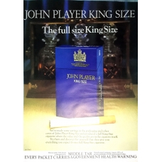 John Player King Size Cigarettes 1977 Vintage Magazine Advert