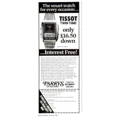 Omega Tissot Twin Time Watch 1980 Vintage Magazine Advert