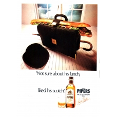 Pipers Fine Scotch Whisky From Pipers Brothers 1978 Vintage Magazine Advert