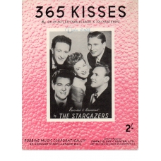 365 Kisses by The Stargazers Vintage Sheet Music 1954