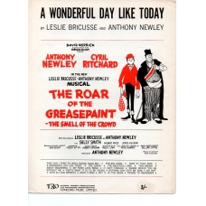 A Wonderful Day Like Today Vintage Sheet Music