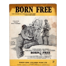 Born Free by Matt Monro Vintage Sheet Music 1966
