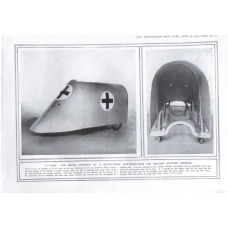 A Bullet Proof Stretcher Cover for Rescuing Between Trenches WW1 1915 Print