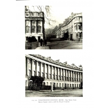 Bath Gay Street and The Royal Crescent 1933 Vintage Antique Print