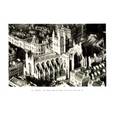 Bath The Abbey and Heart of The City 1933 Vintage Antique Print